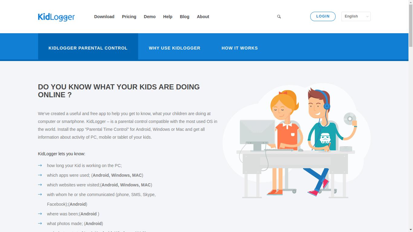 Kidlogger Parental Controlling App